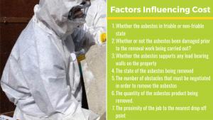factors influence asbestos removal price in Australia list