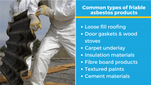 common types of friable asbestos