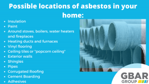 possible locations of asbestos in your home