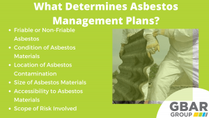 what determines asbestos management plans