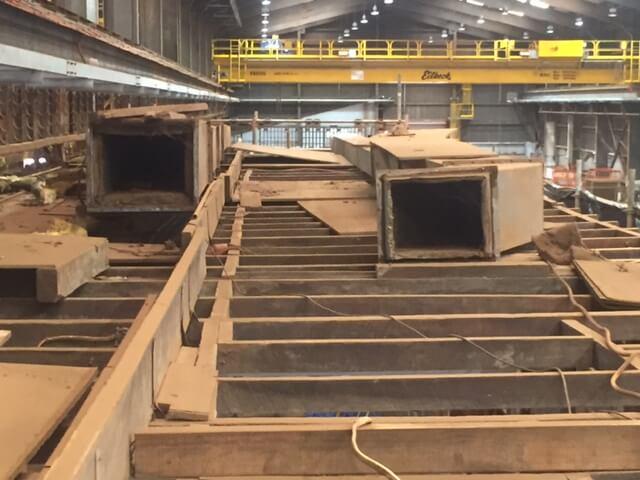 Asbestos contaminated site
