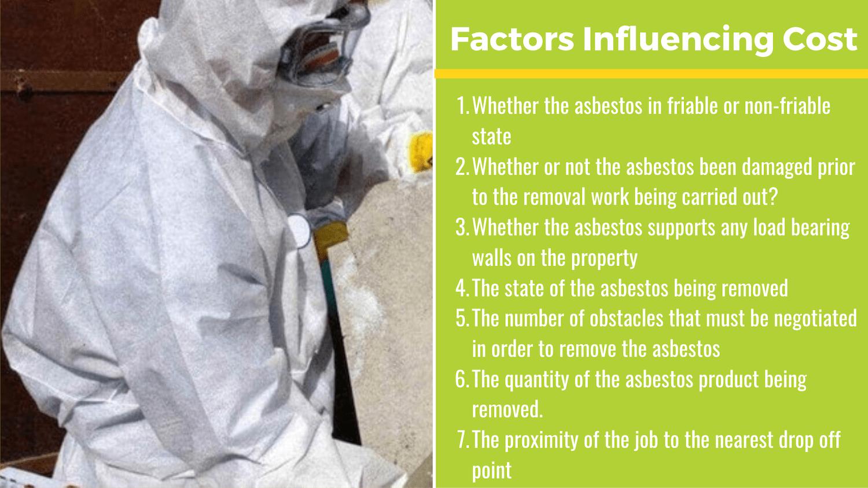 factors influencing asbestos removal prices
