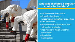 infographic explaning the history of asbestos use in australia