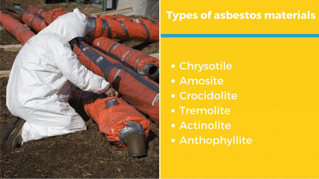 six types of asbestos materials