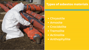 six types of asbestos materials