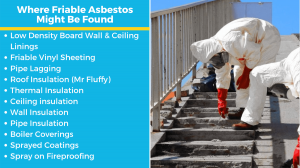 examples of friable asbestos materials