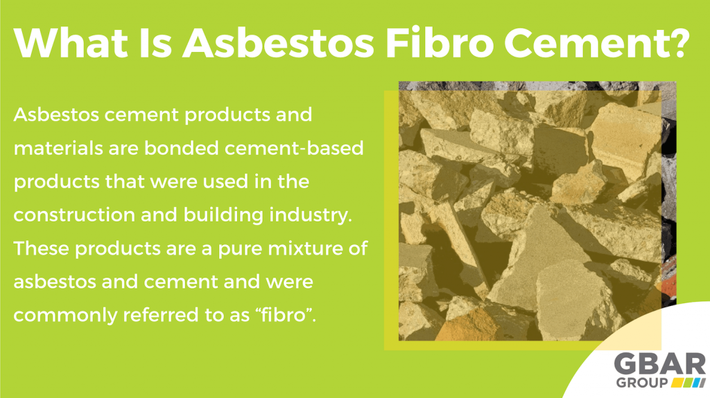 What is asbestos fibro cement?