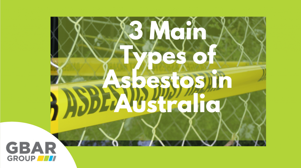 types of asbestos in australia