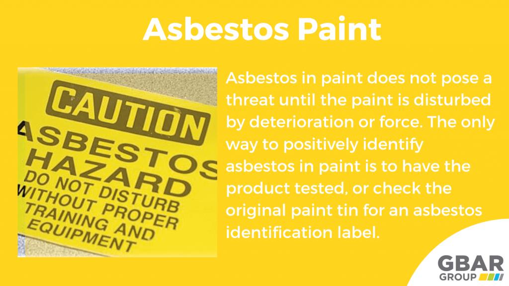 asbestos paint characteristics