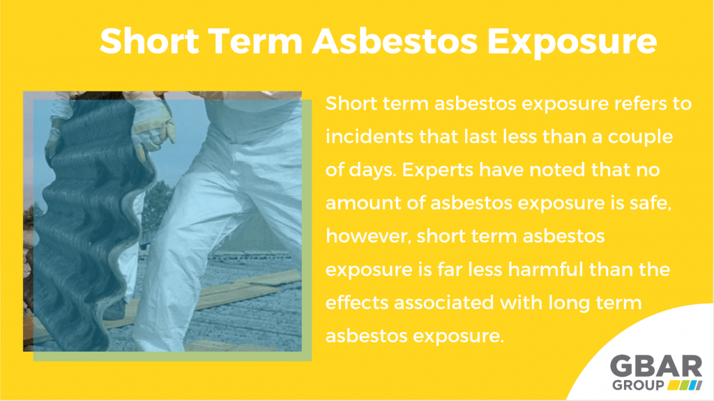 short term asbestos exposure dangers