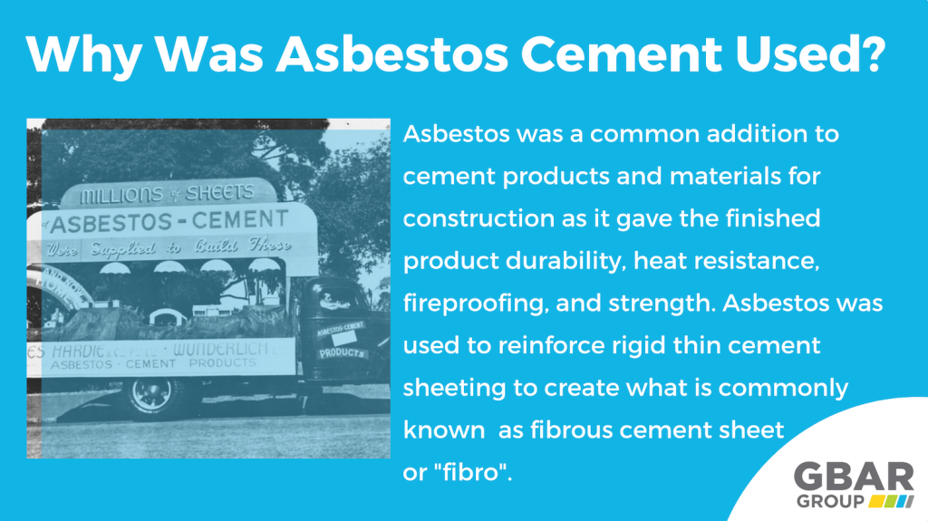 why was asbestos in concrete a popular choice?