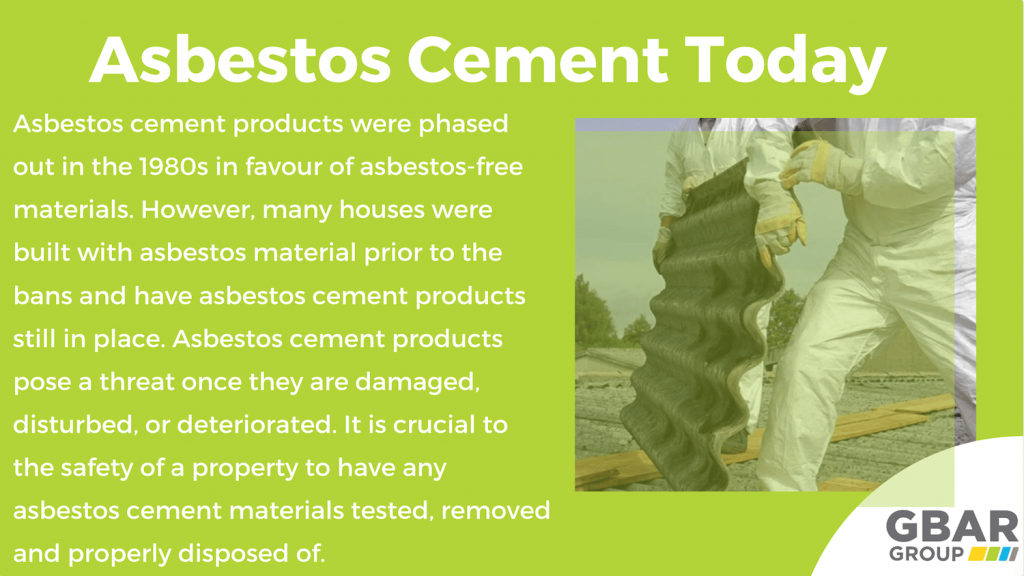 asbestos in cement in 2020 - is it still a thing?