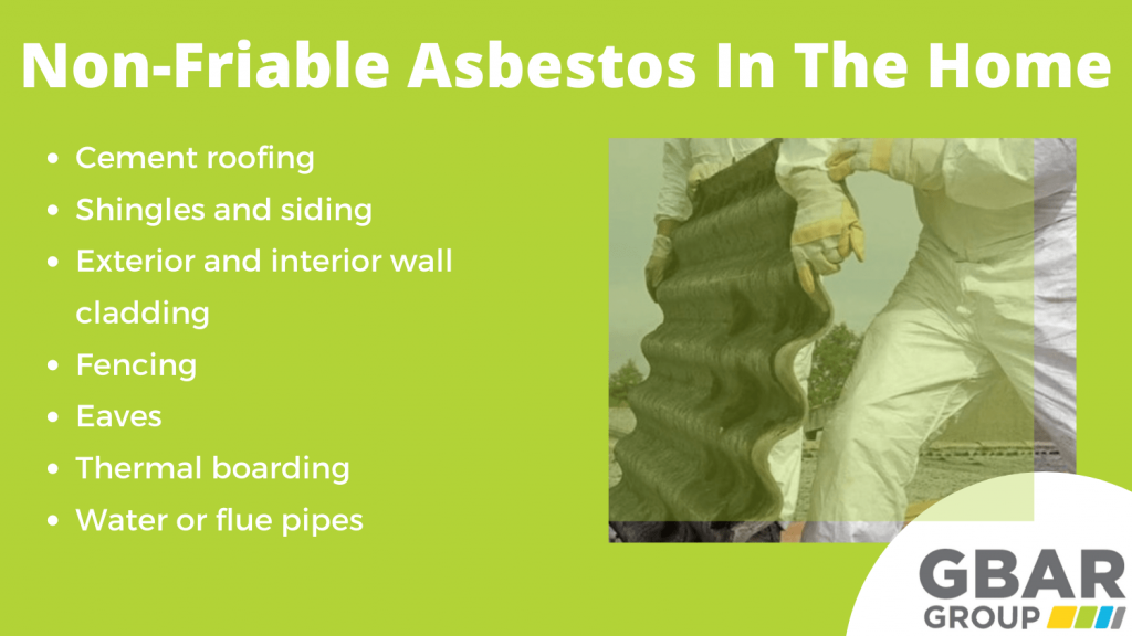 non-friable asbestos in the home locations
