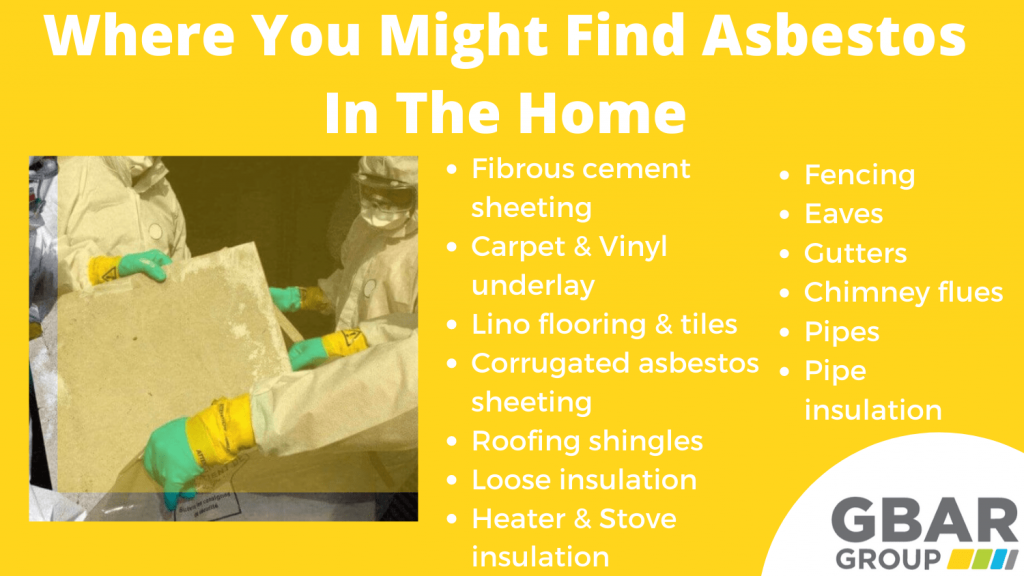 common places for asbestos in the home