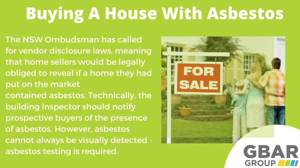 Buying a house with asbestos - your legal obligation